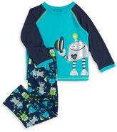Little Me Robot Print Pajama Set
