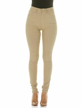 Cover Girl Women's Tall Size Khaki High Waisted Ultra Skinny Stretchy 5