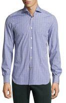 Kiton Dobby Windowpane Shirt