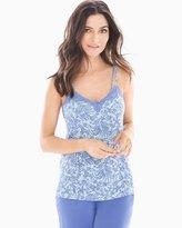 Soma Intimates Lace Swing Pajama Cami Tranquil Palm Baja Blue