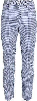 L'Agence Mandy High-Rise Gingham Pants