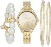 Charter Club Women's Bracelet Watch 33mm & Bracelets Set, Created for Macy's