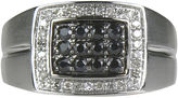 Black Diamond FINE JEWELRY LIMITED QUANTITIES Mens 1/2 CT. T.W. White Diamond and Black Sapphire Ring