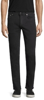 BLK DNM Solid Cotton Straight Jeans
