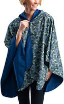 RainCaper Outerwear Capes Navy/Multi - Navy & William Morris Seaweed Reversible Hooded Rain Cape