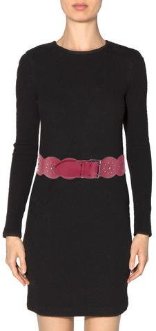 Alaia Studded Leather Belt
