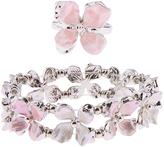 Monsoon Pearly Flower Girl Bracelet & Ring Set