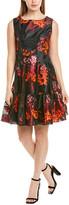 Anna Sui Kismet Silk-Trim A-Line Dress