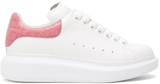 Alexander McQueen Raised-sole Low-top Leather Trainers - White