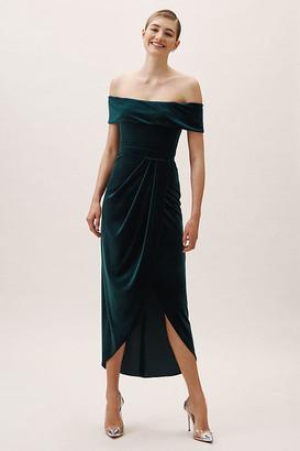 BHLDN Edison Velvet Dress By in Green Size 10