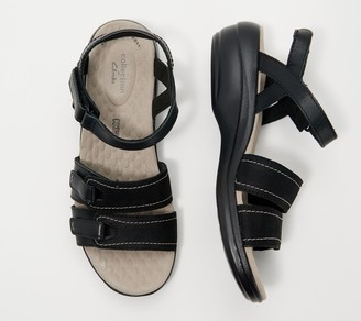 Clarks Collection Leather Sandals - Alexis Shine