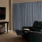Absolute Zero Velvet Blackout Home Theater Curtain Panel, 84-Inch, Chocolate