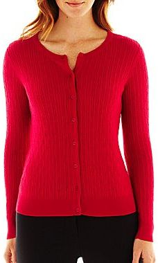 Liz Claiborne Cable-Knit Cardigan Sweater