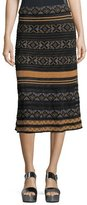 M Missoni Long Semisheer Chenille Ribbon Knit Skirt