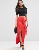 Asos Maxi Skirt with Twist Knot