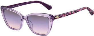 Kate Spade Lucca Acetate Cat-Eye Sunglasses