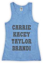 Urban Smalls Girls' Tank Tops Heather - Heather Bright Blue 'Carrie Kacey Taylor Brandi' Racerback Tank - Toddler & Girls