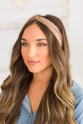 The Mint Julep Boutique More Than Love Mocha Solid Headband