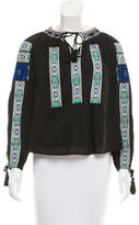 Sea Embroidered Long Sleeve Top w/ Tags
