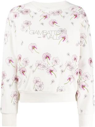 Giambattista Valli Floral Print Sweatshirt