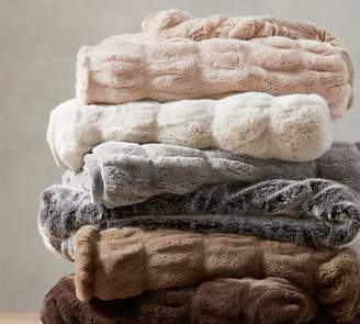 Pottery Barn Faux Fur Ruched Throws