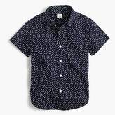 J.Crew Boys' short-sleeve Secret Wash shirt in tiny stars