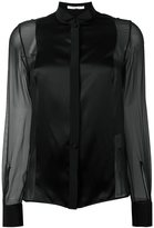 Givenchy sheer contrast panel shirt - women - Silk - 40