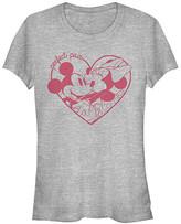 Fifth Sun Women's Tee Shirts ATH - Athletic Heather Mickey & Minnie 'Perfect Pair' Crewneck Tee - Women & Juniors