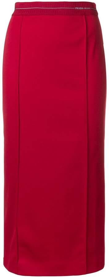 Prada fitted midi pencil skirt
