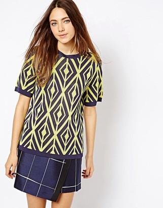 Asos Design ASOS Knitted Tee In Pattern