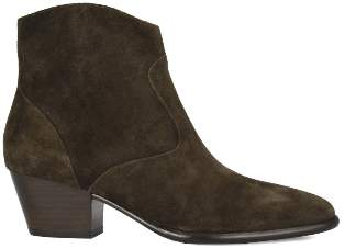 Ash Military Green Suede Heidi Bis Ankle Boots - 36