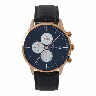 Minster Men's Analog Quartz Watch with Leather Strap MN31222