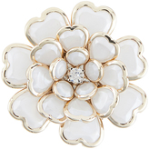 Accessorize Heart Layered Flower Brooch