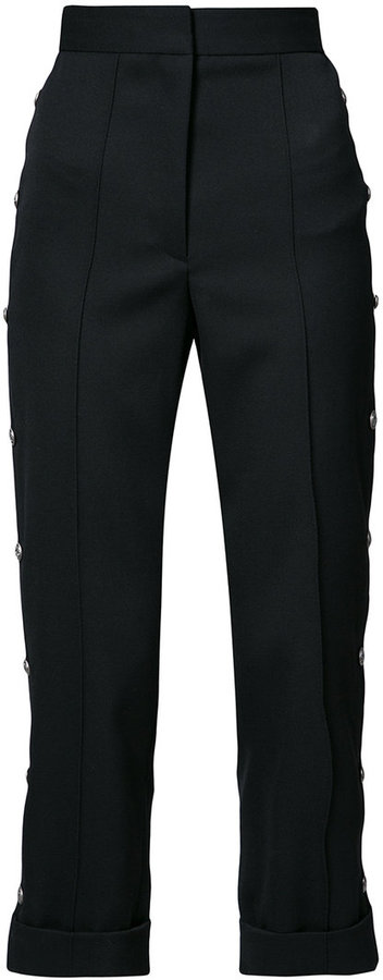 Vera Wang high-rise cropped tailored trousers
