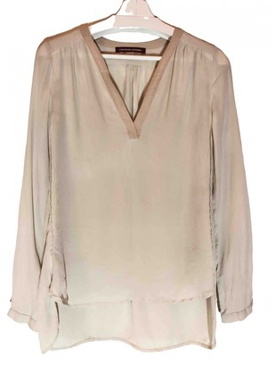 Comptoir des Cotonniers Ecru Silk Top for Women