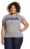 Fifth Sun USA Plus Size Graphic Tee Heather Grey