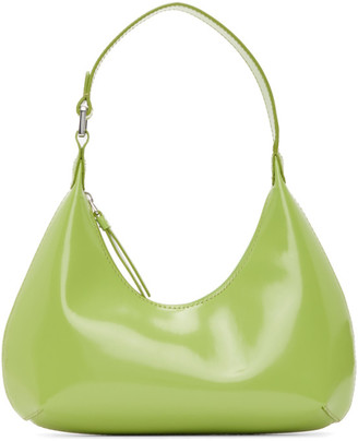 BY FAR Green Baby Amber Bag