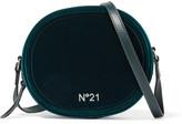 No.21 No. 21 - Velvet And Leather Shoulder Bag - Green