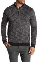 Vince Camuto Marled Knit Zip Pullover