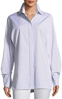 Lafayette 148 New York Victoria Oceanic Striped Blouse