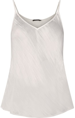 Gisy Cream White Silk Bias Cut Camisole
