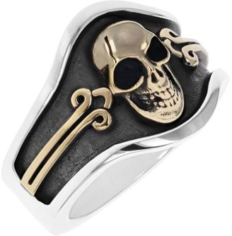 King Baby Studio New Classics Skull Cigar Band Ring