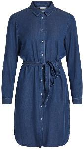 Vila Denim Blue Vibista Shirt Dress - xsmall