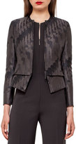 Akris Ilka Jockey Jacquard Jacket, Black