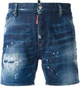 DSQUARED2 light-wash denim shorts