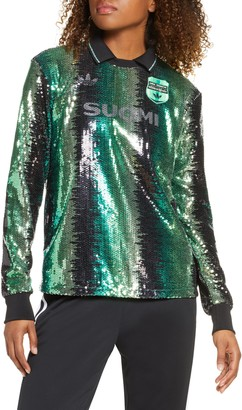 adidas Sequin Long Sleeve Soccer Jersey
