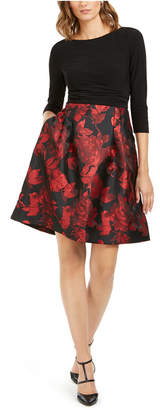 Jessica Howard Pleated-Skirt Fit & Flare Dress