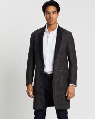 Cerruti Button-Down V-Neck Coat