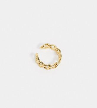 Orelia ear cuff in chain gold plate