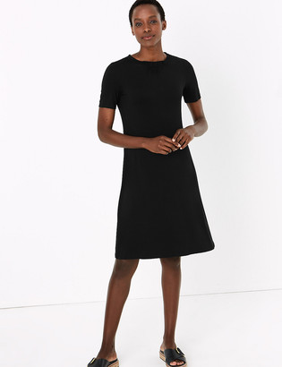 Marks and Spencer Jersey Knee Length Swing Dress